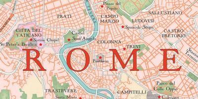 Roma Arată Hartă Hărți Roma Lazio Italia